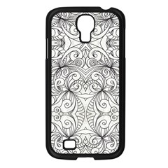Drawing Floral Doodle 1 Samsung Galaxy S4 I9500/ I9505 Case (black) by MedusArt