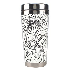 Drawing Floral Doodle 1 Stainless Steel Travel Tumblers by MedusArt
