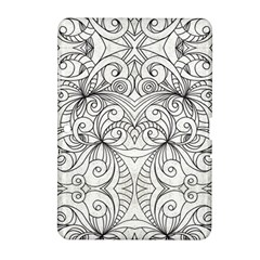 Drawing Floral Doodle 1 Samsung Galaxy Tab 2 (10 1 ) P5100 Hardshell Case  by MedusArt