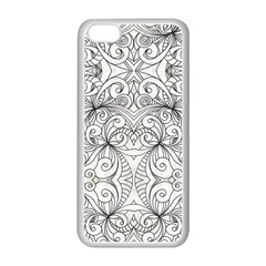 Drawing Floral Doodle 1 Apple Iphone 5c Seamless Case (white) by MedusArt