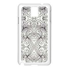 Drawing Floral Doodle 1 Samsung Galaxy Note 3 N9005 Case (white) by MedusArt