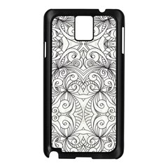 Drawing Floral Doodle 1 Samsung Galaxy Note 3 N9005 Case (black) by MedusArt