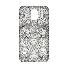 Drawing Floral Doodle 1 Samsung Galaxy S5 Hardshell Case  by MedusArt