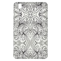 Drawing Floral Doodle 1 Samsung Galaxy Tab Pro 8 4 Hardshell Case by MedusArt
