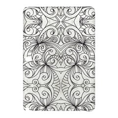 Drawing Floral Doodle 1 Samsung Galaxy Tab Pro 12 2 Hardshell Case by MedusArt