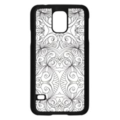 Drawing Floral Doodle 1 Samsung Galaxy S5 Case (black) by MedusArt