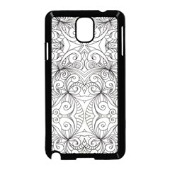 Drawing Floral Doodle 1 Samsung Galaxy Note 3 Neo Hardshell Case (black) by MedusArt