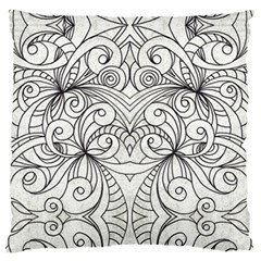 Drawing Floral Doodle 1 Standard Flano Cushion Cases (one Side)  by MedusArt