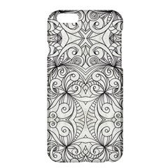 Drawing Floral Doodle 1 Apple Iphone 6 Plus/6s Plus Hardshell Case by MedusArt