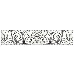 Drawing Floral Doodle 1 Flano Scarf (small)  by MedusArt
