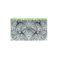 Drawing Floral Doodle 1 Cosmetic Bag (xs) by MedusArt
