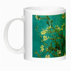 Blossoming Almond Tree Night Luminous Mugs by MasterpiecesOfArt