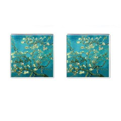 Blossoming Almond Tree Cufflinks (square) by MasterpiecesOfArt