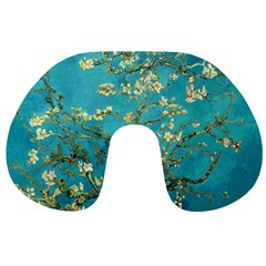 Blossoming Almond Tree Travel Neck Pillows by MasterpiecesOfArt