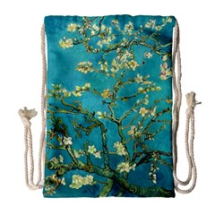 Blossoming Almond Tree Drawstring Bag (large) by MasterpiecesOfArt