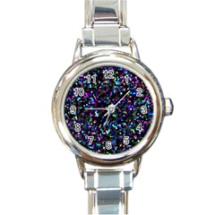 Glitter 1 Round Italian Charm Watches by MedusArt
