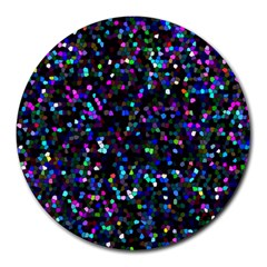 Glitter 1 Round Mousepads by MedusArt