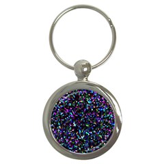 Glitter 1 Key Chains (round)