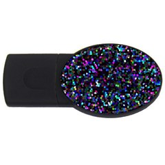 Glitter 1 Usb Flash Drive Oval (2 Gb)  by MedusArt