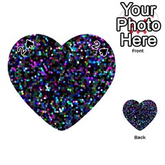 Glitter 1 Playing Cards 54 (heart)  by MedusArt