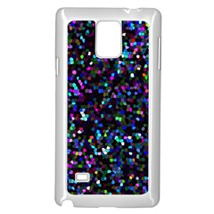 Glitter 1 Samsung Galaxy Note 4 Case (white) by MedusArt