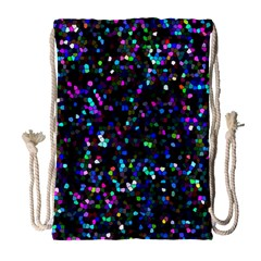 Glitter 1 Drawstring Bag (large)