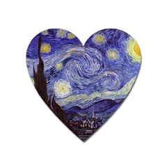 Van Gogh Starry Night Heart Magnet by fineartgallery