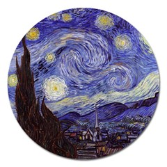 Van Gogh Starry Night Magnet 5  (round) by fineartgallery