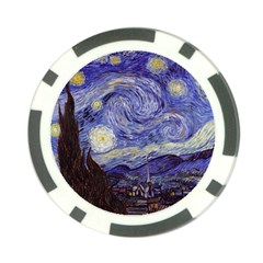 Van Gogh Starry Night Poker Chip Card Guards by fineartgallery