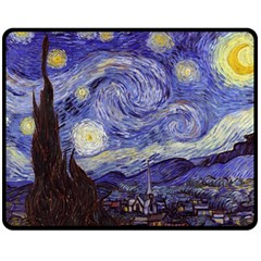 Van Gogh Starry Night Fleece Blanket (medium)