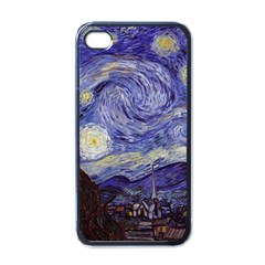 Van Gogh Starry Night Apple Iphone 4 Case (black) by MasterpiecesOfArt
