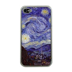 Van Gogh Starry Night Apple Iphone 4 Case (clear) by MasterpiecesOfArt