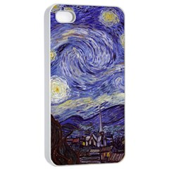 Van Gogh Starry Night Apple Iphone 4/4s Seamless Case (white) by MasterpiecesOfArt