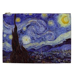 Van Gogh Starry Night Cosmetic Bag (xxl)  by fineartgallery