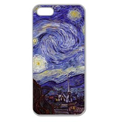 Van Gogh Starry Night Apple Seamless Iphone 5 Case (clear) by MasterpiecesOfArt