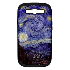 Van Gogh Starry Night Samsung Galaxy S Iii Hardshell Case (pc+silicone) by MasterpiecesOfArt