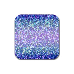 Glitter 2 Rubber Square Coaster (4 Pack)  by MedusArt