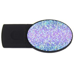 Glitter 2 Usb Flash Drive Oval (2 Gb)  by MedusArt