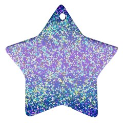 Glitter 2 Star Ornament (two Sides)  by MedusArt