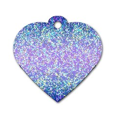 Glitter 2 Dog Tag Heart (two Sides)