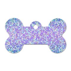 Glitter 2 Dog Tag Bone (two Sides)
