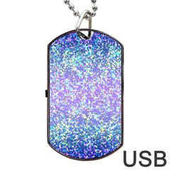 Glitter 2 Dog Tag Usb Flash (two Sides)  by MedusArt
