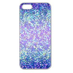 Glitter 2 Apple Seamless Iphone 5 Case (clear) by MedusArt