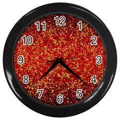 Glitter 3 Wall Clocks (black) by MedusArt