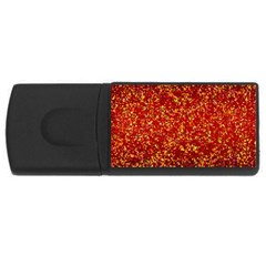 Glitter 3 Usb Flash Drive Rectangular (4 Gb)  by MedusArt