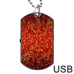 Glitter 3 Dog Tag Usb Flash (two Sides)  by MedusArt