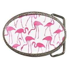 Pink Flamingos Pattern Belt Buckles by Patterns