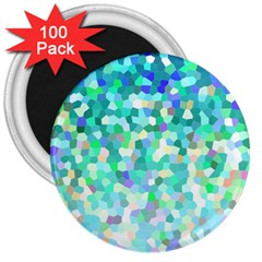 Mosaic Sparkley 1 3  Magnets (100 Pack) by MedusArt