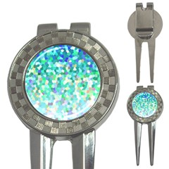 Mosaic Sparkley 1 3 In 1 Golf Divots by MedusArt