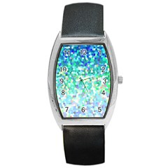 Mosaic Sparkley 1 Barrel Metal Watches by MedusArt